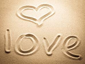 Фото Любовь Песок Сердце