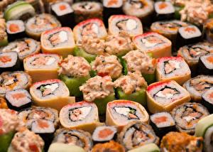 Обои Морепродукты Суши Много Еда фото