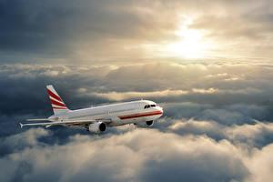 Картинка Самолеты Пассажирские Самолеты Небо Облака