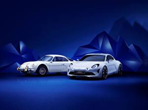 Фотография Renault Белый Двое 2016 Alpine Vision Машины