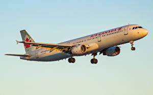 Картинка Самолеты Пассажирские Самолеты Летящий Полет Airbus A321-211
