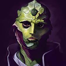 Картинка Mass Effect Лицо Инопланетяне Thane Фэнтези