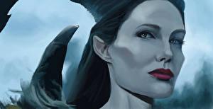 Обои Angelina Jolie Малефисента (фильм) Лицо Фильмы Девушки