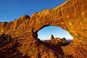 Фотографии Америка Парк Скале Arches Природа