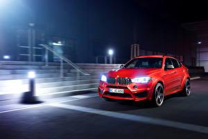 Картинка БМВ Стайлинг Красных Металлик Ночью 2016 AC Schnitzer BMW X6 FALCON авто