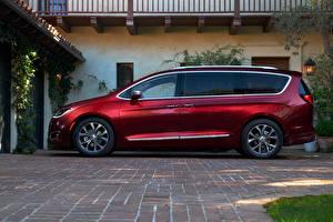 Обои Chrysler Бордовый Сбоку 2016 Pacifica машины