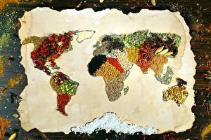 Фото Специи Карты Дизайн Продукты питания