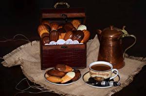 Фото Выпечка Печенье Кофе Шоколад Чашка Еда