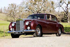 Фото Роллс ройс Старинные Бордовые Металлик 1955-1959 Silver Cloud EWB Машины
