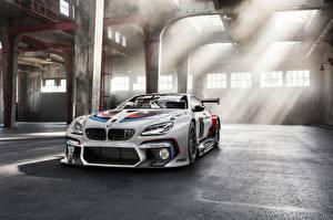 Обои для рабочего стола BMW Белые Лучи света M6 GT3 Competition Edition авто