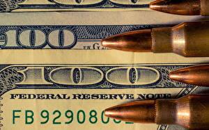 Обои Деньги Купюры Доллары Патроны 100 фото