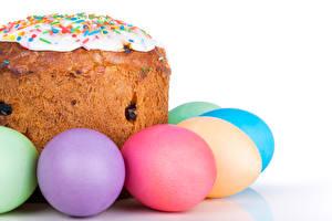 Обои Пасха Праздники Выпечка Кулич Яйца Еда фото