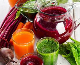 Обои Напиток Сок Овощи Смузи Свекла Стакана Кувшин Еда