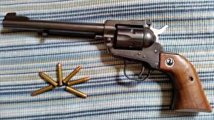 Обои Пистолеты Крупным планом Пули Револьвер Ruger 22 Армия