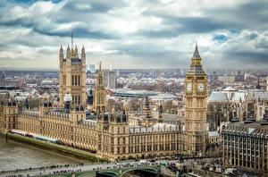 Картинки Здания Англия Лондон Биг-Бен