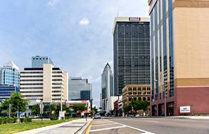 Фото Здания Дороги Штаты Улице Флорида Downtown Tampa Города