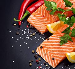Картинка Морепродукты Рыба Приправы Еда