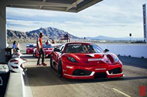 Обои Ferrari Красный Dream Racing F430 Challage Машины