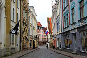 Фотография Эстония Здания Таллин Улица