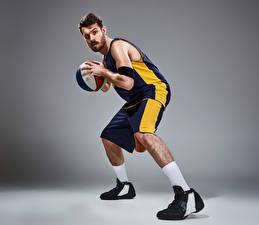 Фотографии Баскетбол Мужчины Мяч Униформа Спорт