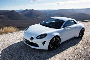 Обои Рено Тюнинг Белые Металлик 2016 Alpine Vision(Renault) авто