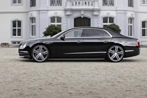 Картинки Bentley Черный Сбоку 2015 Startech Continental машины