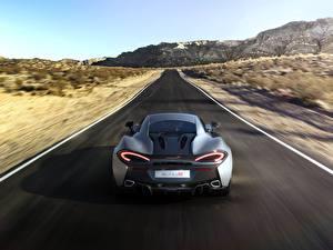 Фото Дороги McLaren Движение 2015 570S Coupe Машины