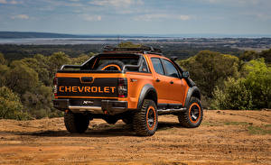 Фото Chevrolet Оранжевая Сзади 2016 Colorado Xtreme Concept Автомобили