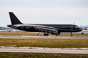 Обои Самолеты Пассажирские Самолеты Черный Avion Express Airbus A320-200 Авиация фото