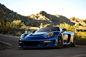 Фотографии Porsche Синий Металлик 2013 Gemballa Mirage GT Black Edition Автомобили