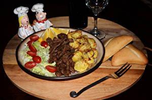 Обои Вторые блюда Мясные продукты Овощи Тарелка Еда фото