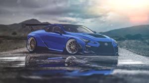 Фотографии Lexus Синие lc500 машины