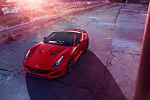 Картинки Ferrari Красный Кабриолет 2015 Pininfarina Novitec Rosso California T Авто
