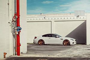 Картинки BMW Белый Сбоку M6 ADV.1 Авто