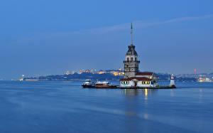 Обои Турция Море Стамбул Города фото