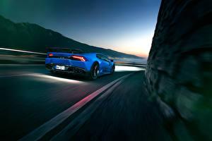 Фотография Lamborghini Сзади Движение Novitec Torado Huracan