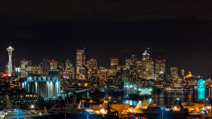 Картинка Дома Сиэтл Вашингтон В ночи