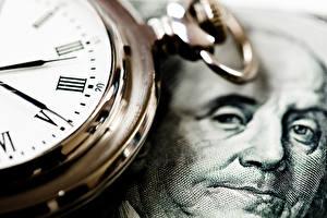 Обои Часы Наручные часы Доллары Циферблат Лицо Franklin фото