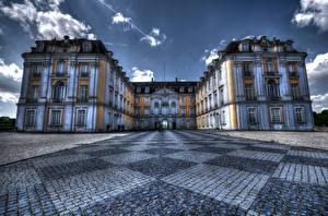 Фото Германия Дворец HDRI Augustusburg Города