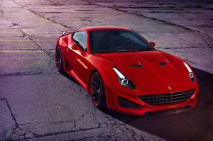 Фотография Феррари Красный 2015, Pininfarina Novitec Rosso California Машины
