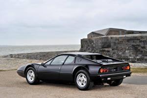 Обои Феррари Старинные Черный Металлик 1973-1976 Ferrari 365 GT4 Berlinetta Boxer FR-spec дизайн Pininfarina