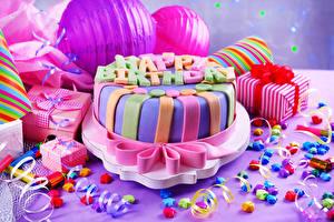 Фото Сладости Торты Праздники День рождения Подарки Пища