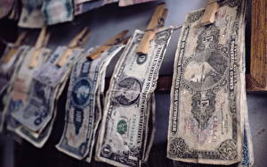 Обои Деньги Купюры Доллары Старый фото