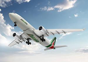 Обои Самолеты Пассажирские Самолеты Небо Alitalia, Airbus, A-330 Авиация фото