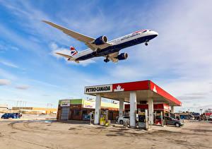 Обои Самолеты Пассажирские Самолеты Небо Boeing 787-9 Авиация фото