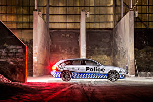 Обои Audi Сбоку Полицейские 2015 RS 4 Avant Автомобили фото