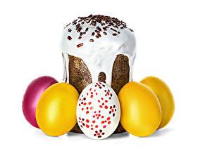 Обои Пасха Выпечка Кулич Яйца Еда фото