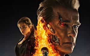 Картинка Терминатор: Генезис Emilia Clarke Arnold Schwarzenegger Лица кино Знаменитости