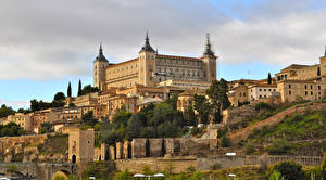 Обои Испания Замки Толедо Alcazar Города