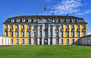 Обои Германия Дворца Газон Augustusburg Города